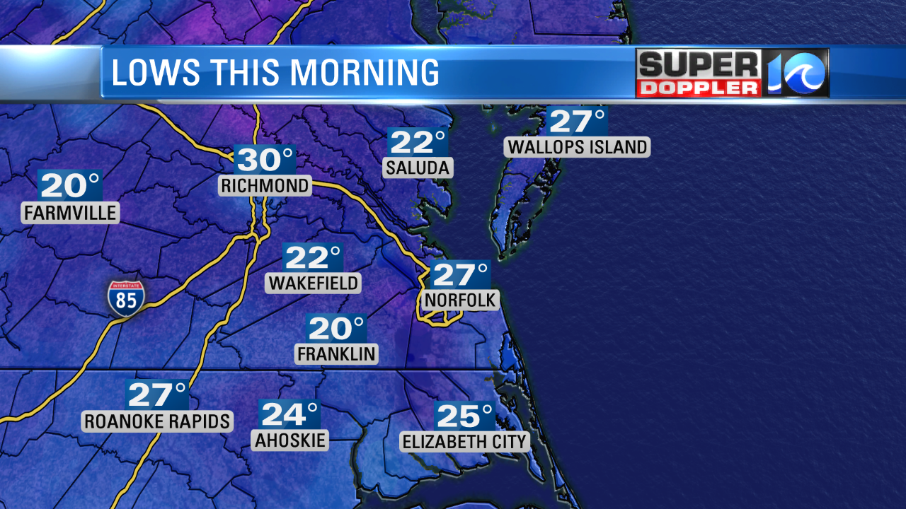 LOWS From this Morning...burrr