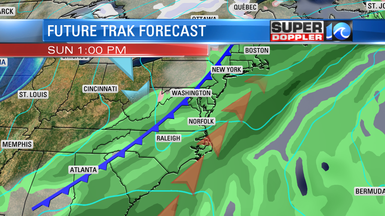 COLD FRONT MOVES IN BY SUNDAY