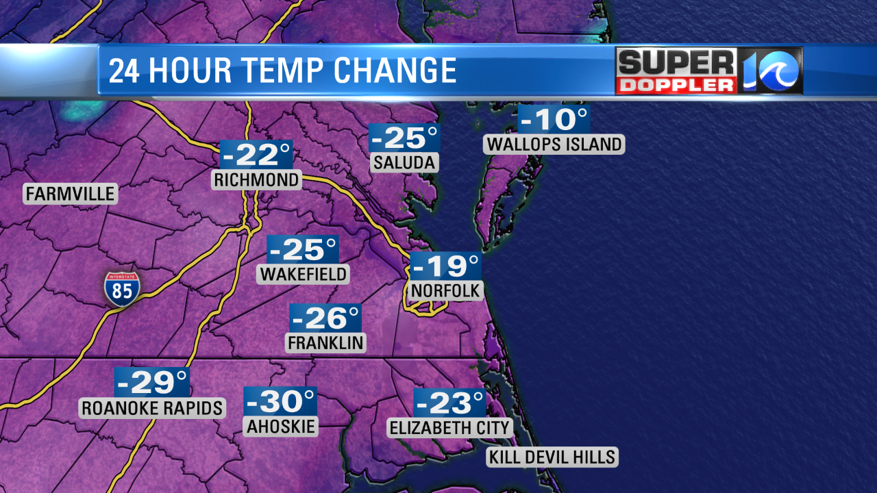 COLDER THIS AM COMPARED TO YESTERDAY AM