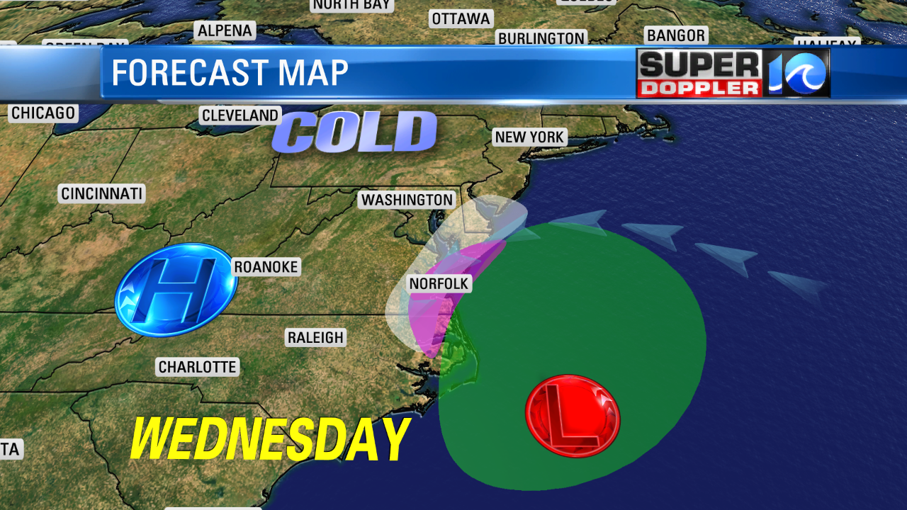 Wednesday's Forecast Map