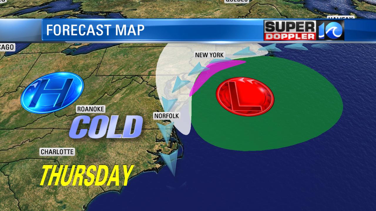 Forecast Map (Thursday)