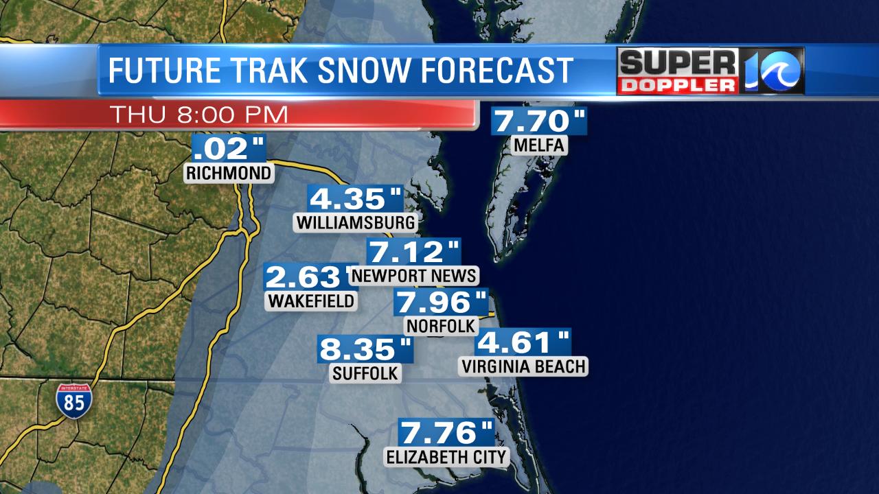 Future Trak Snow Forecast
