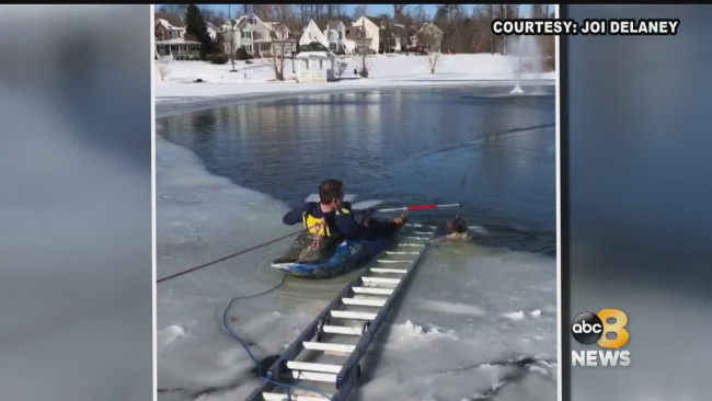 WRIC Dog rescued from pond_669228