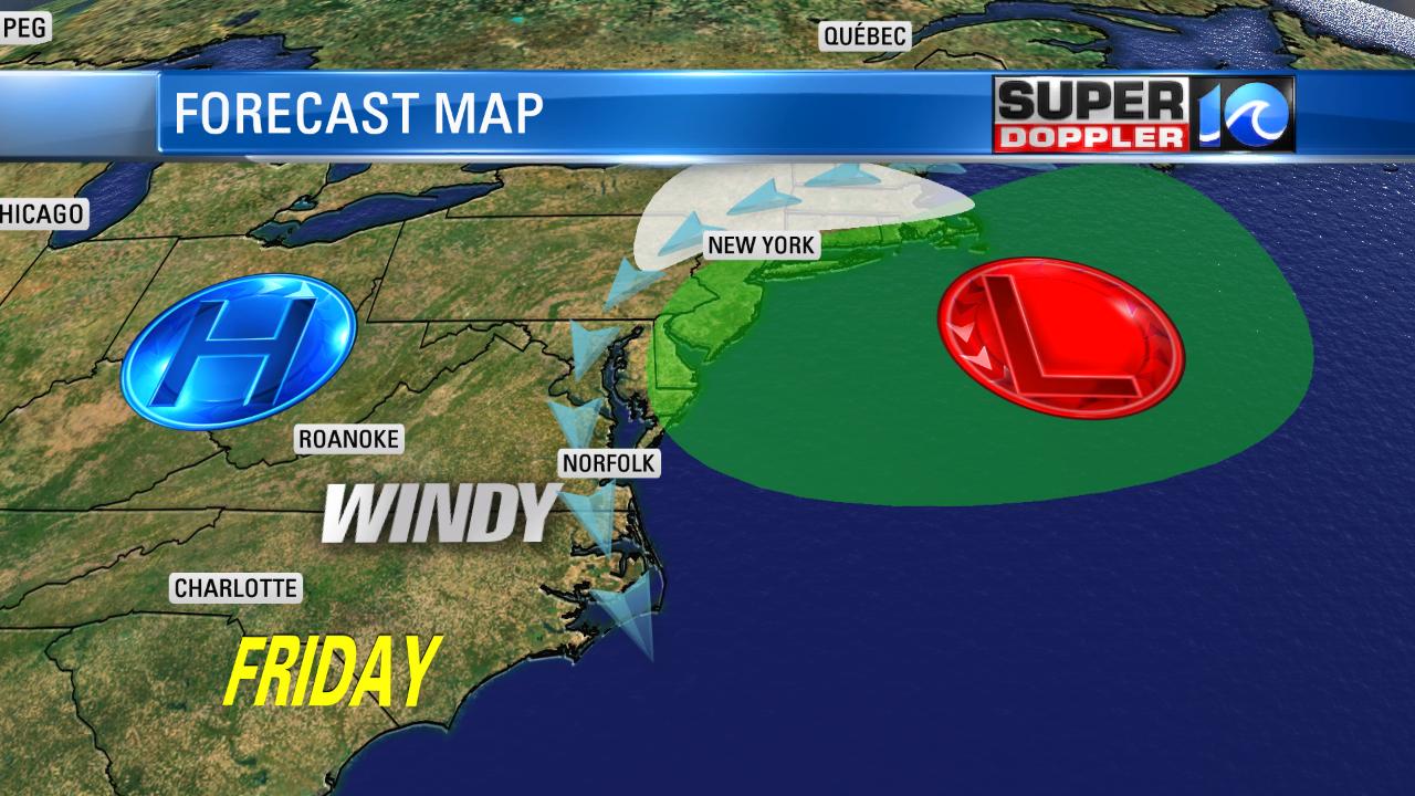 Friday's Forecast map