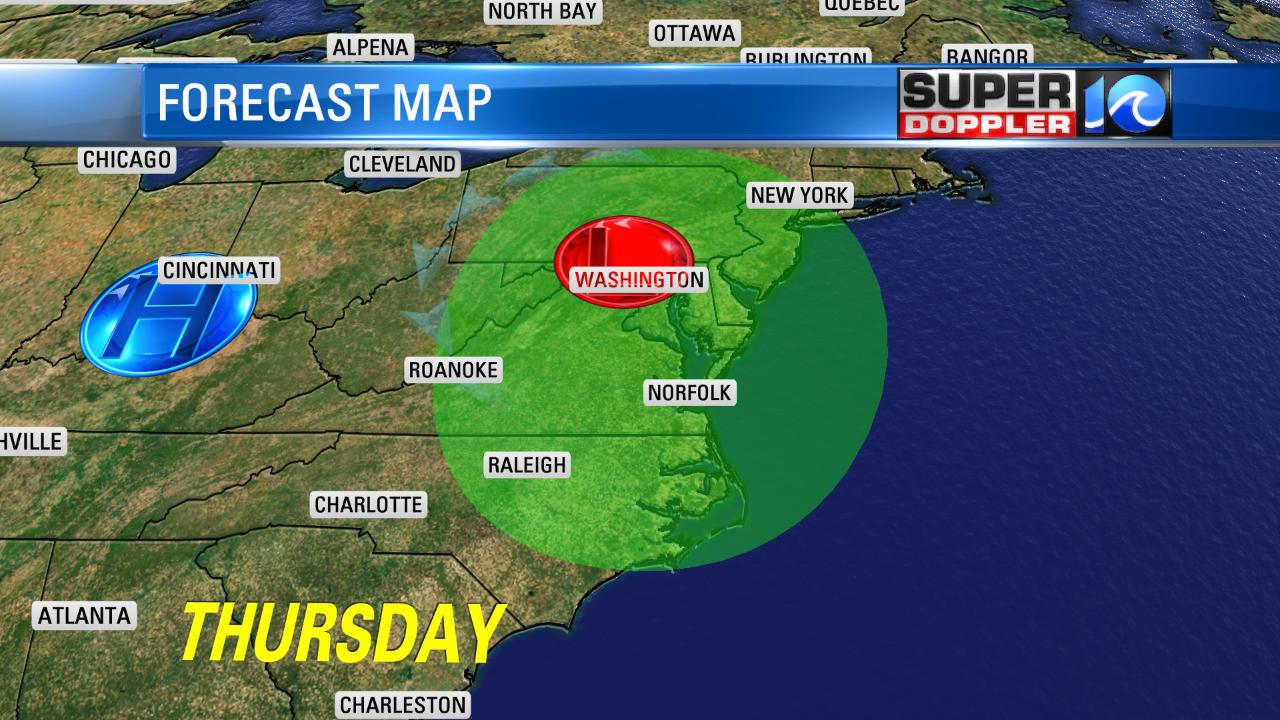 Thursday's Forecast Map