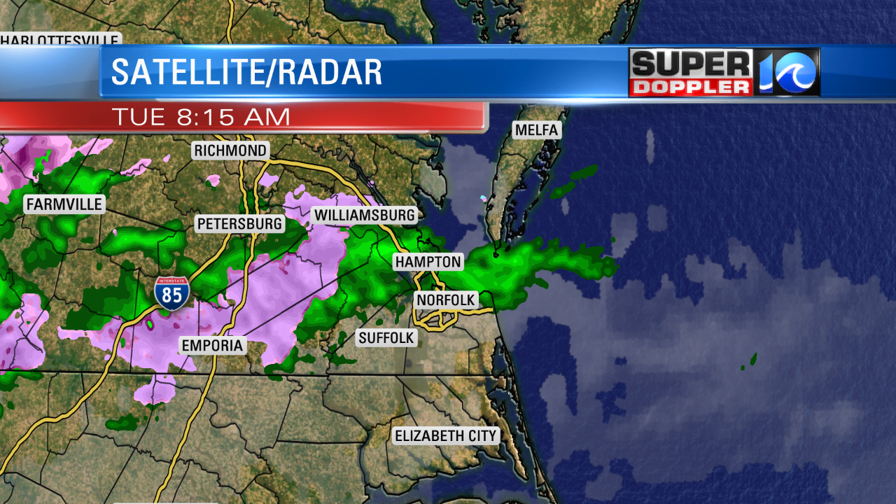 Wintry Mix This Morning