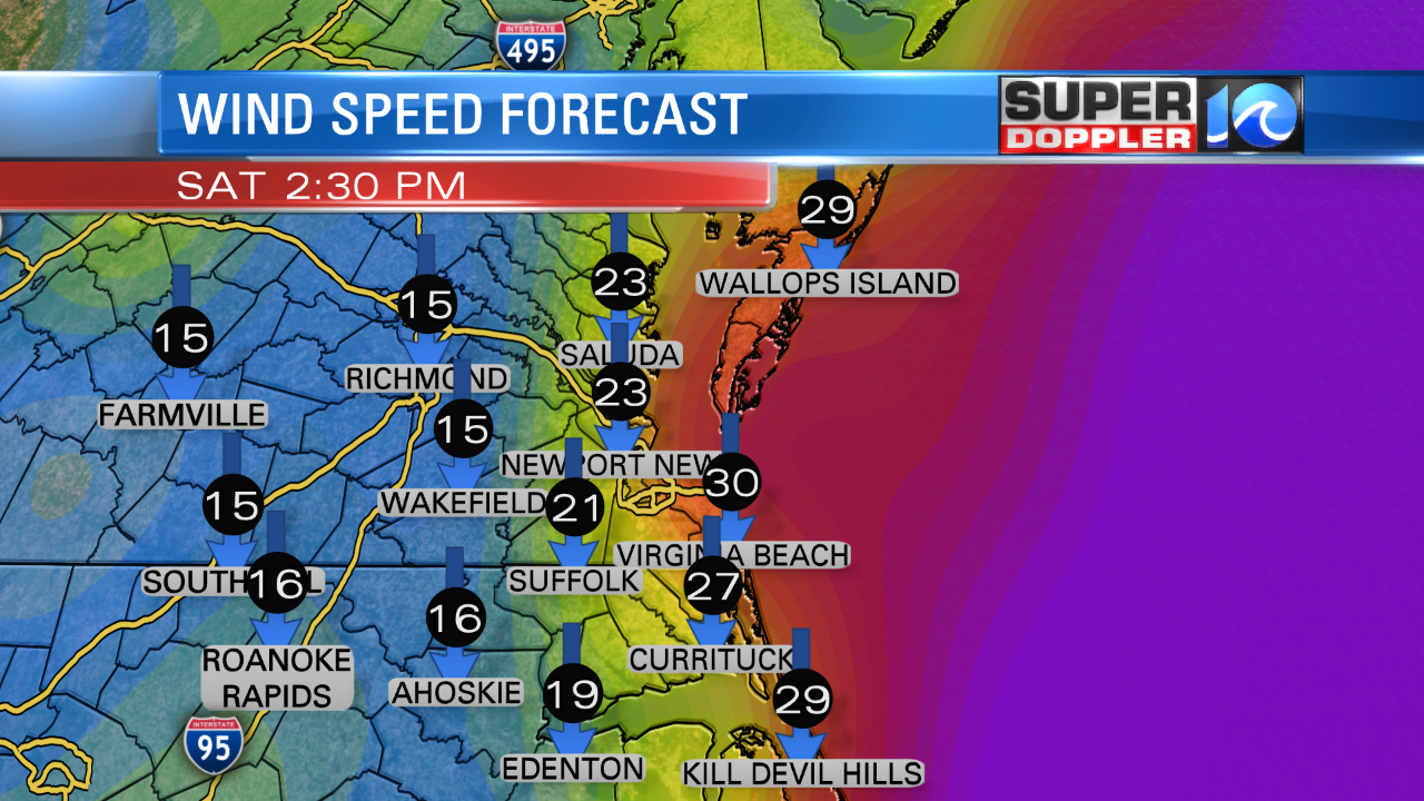 FUTURE TRAK FORECAST WIND - TODAY