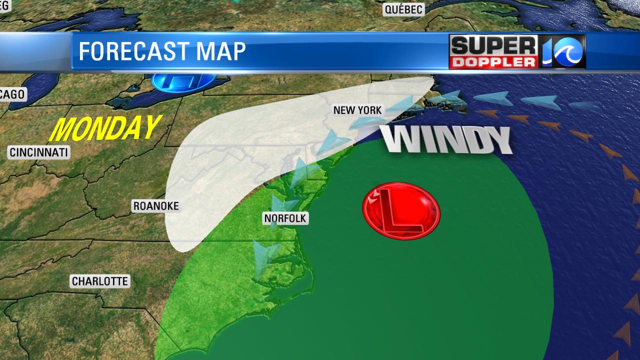 Forecast Map Monday