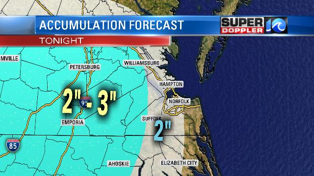 Snowfall Estimates - Tonight