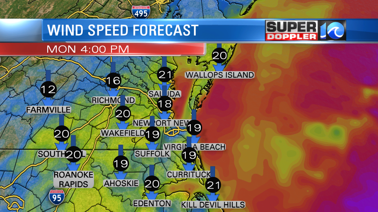 Wind Forecast (This Afternoon)