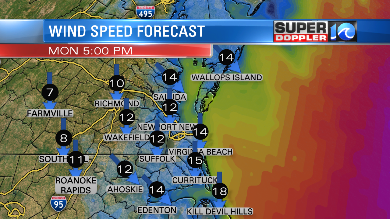 Wind Forecast (This Evening)
