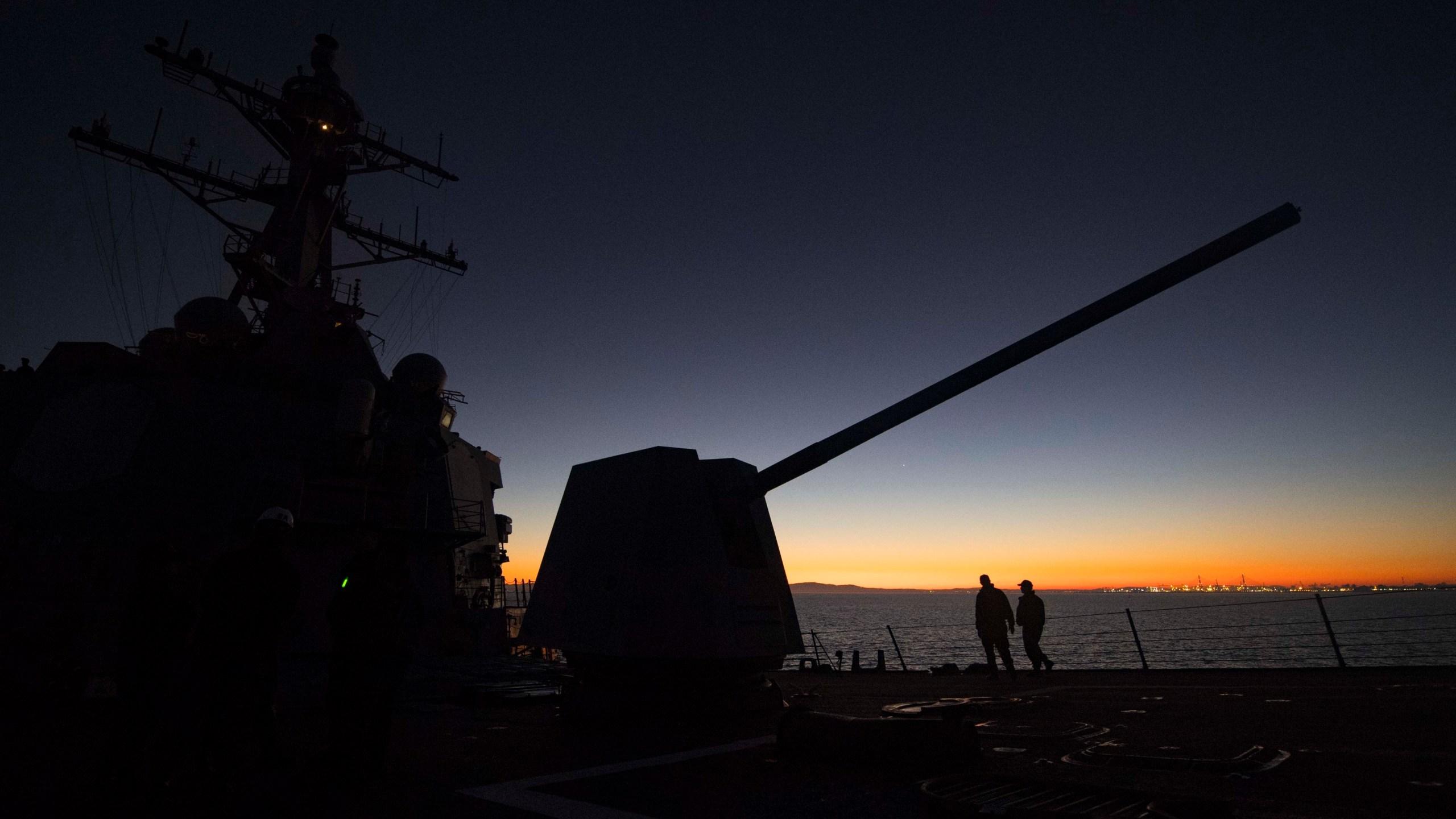 USS Winston Churchill Spain