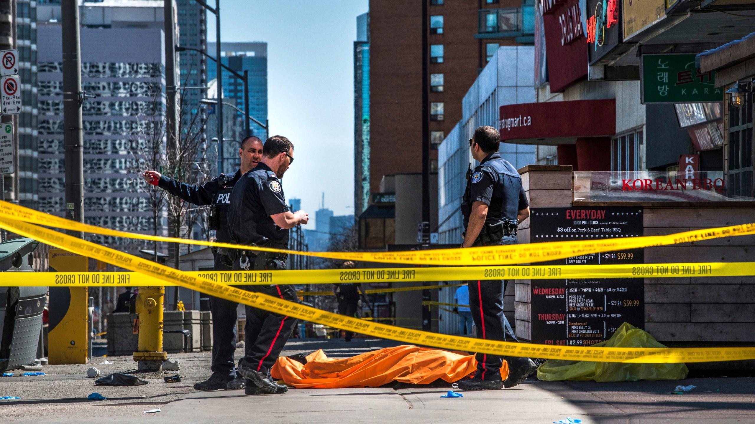 Van hits pedestrians in Toronto