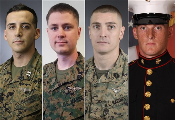 Marines killed in helicopter crash
