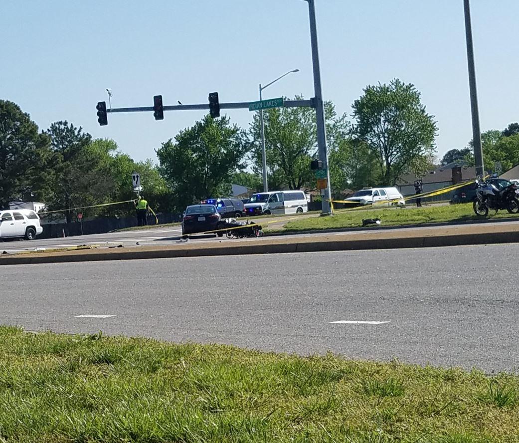 VB Indian Blvd motorcycle crash