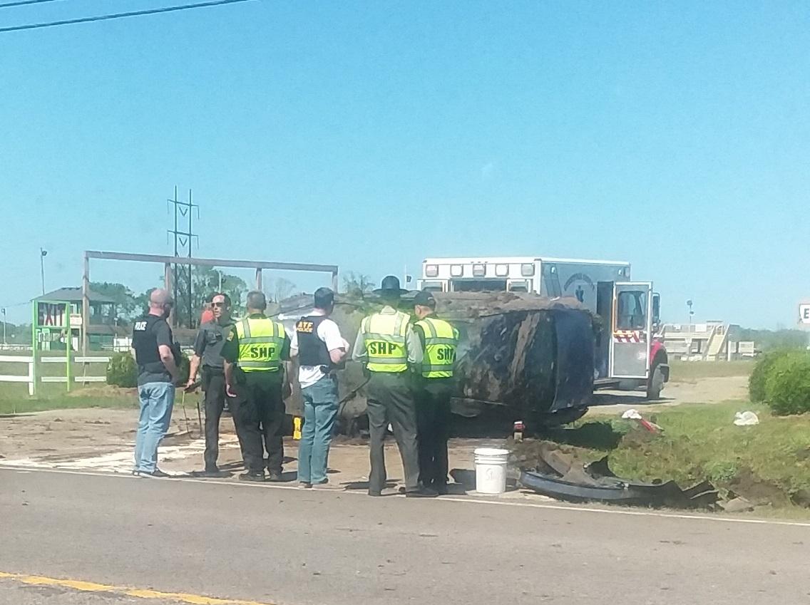 Currituck Highway 158 stolen vehicle crash