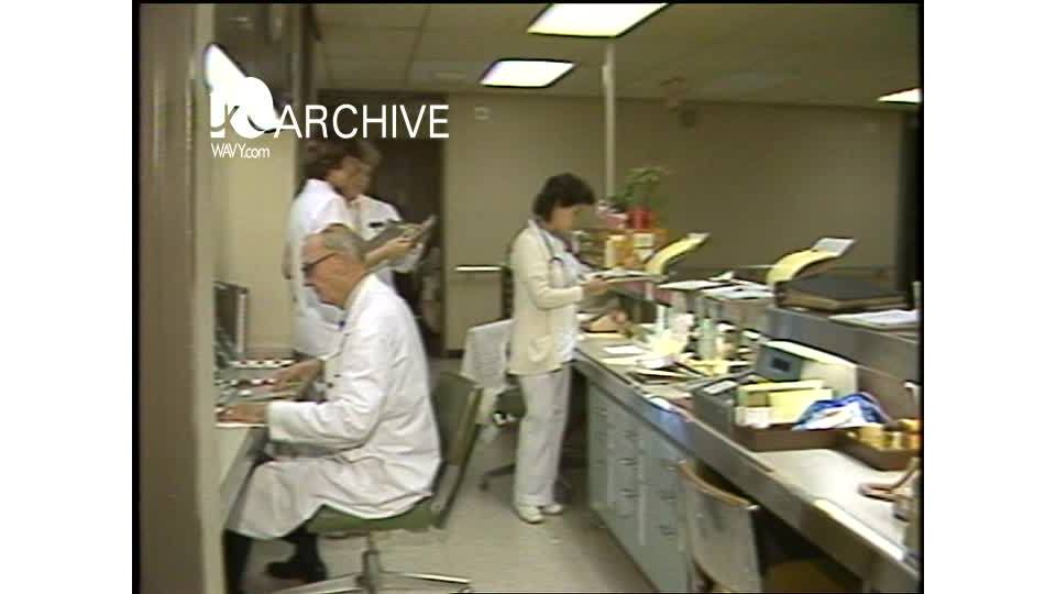 WAVY Archive: 1981 Computers at Maryview Hospital