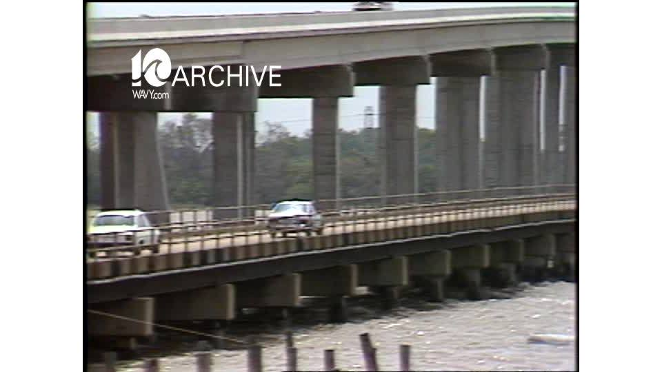 WAVY Archive: 1981 Mills E. Godwin Bridge Dedication on Route 17