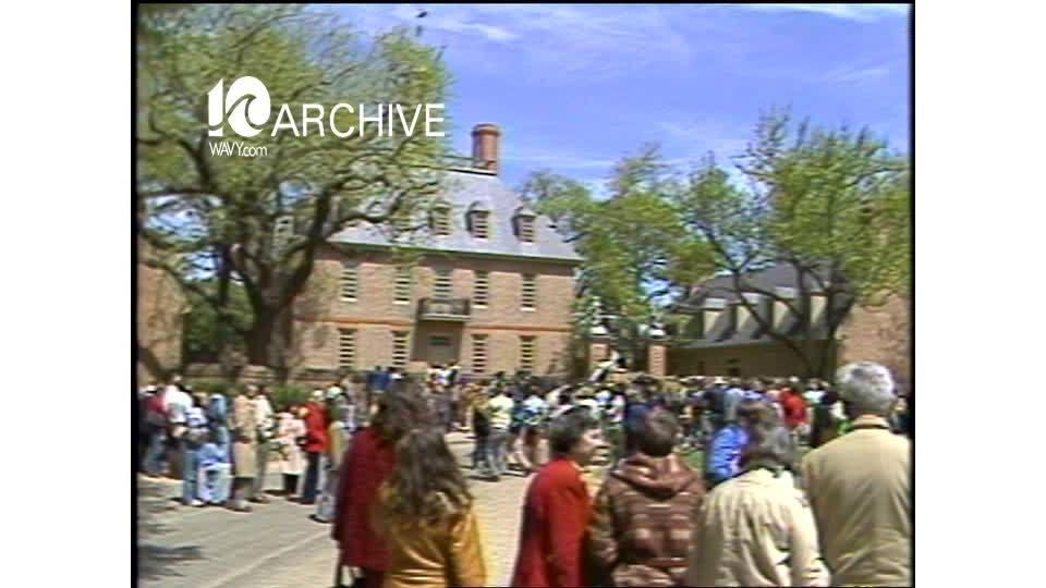 WAVY Archive: 1981 President Nixon Visits Williamsburg