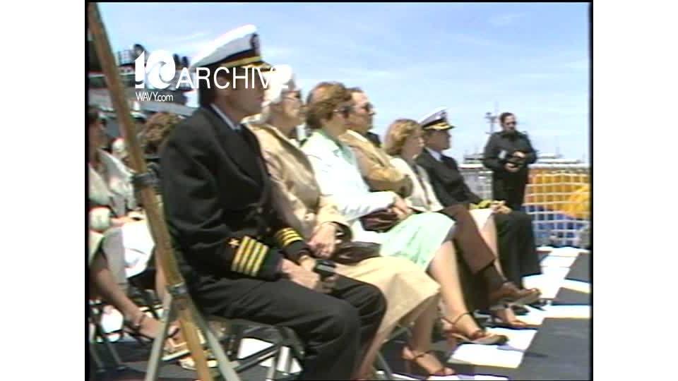 WAVY Archive: 1981 USS Brisco Ceremony