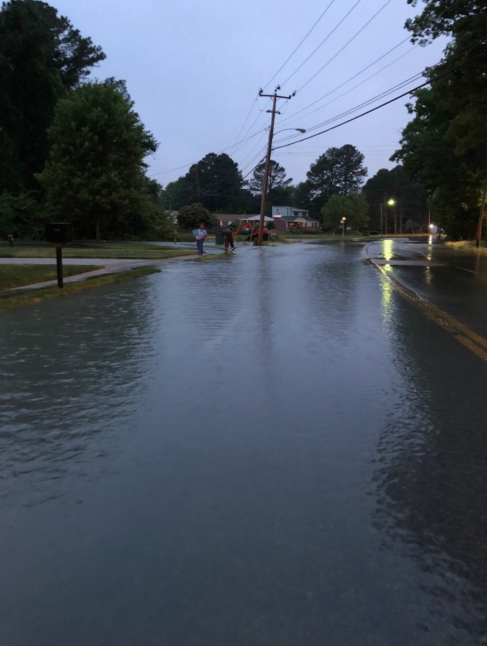 Hampton Water Main Break W Queen Street Cornelius