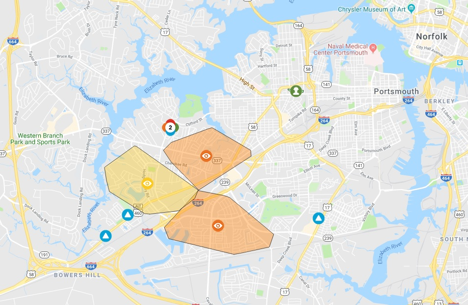 Dominion outage Portsmouth