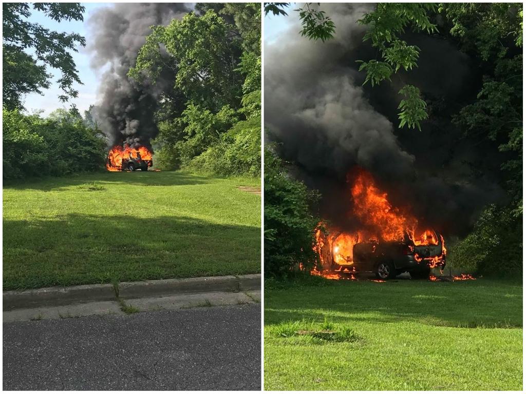 Hampton Car Fire Freeman Drive