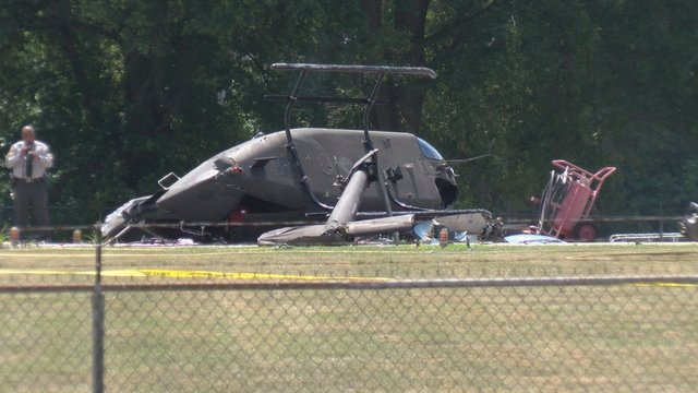 NC Highway Patrol helicopter flips