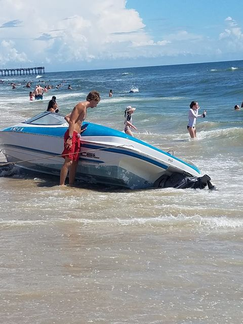 Boat stuck at Oceanfront