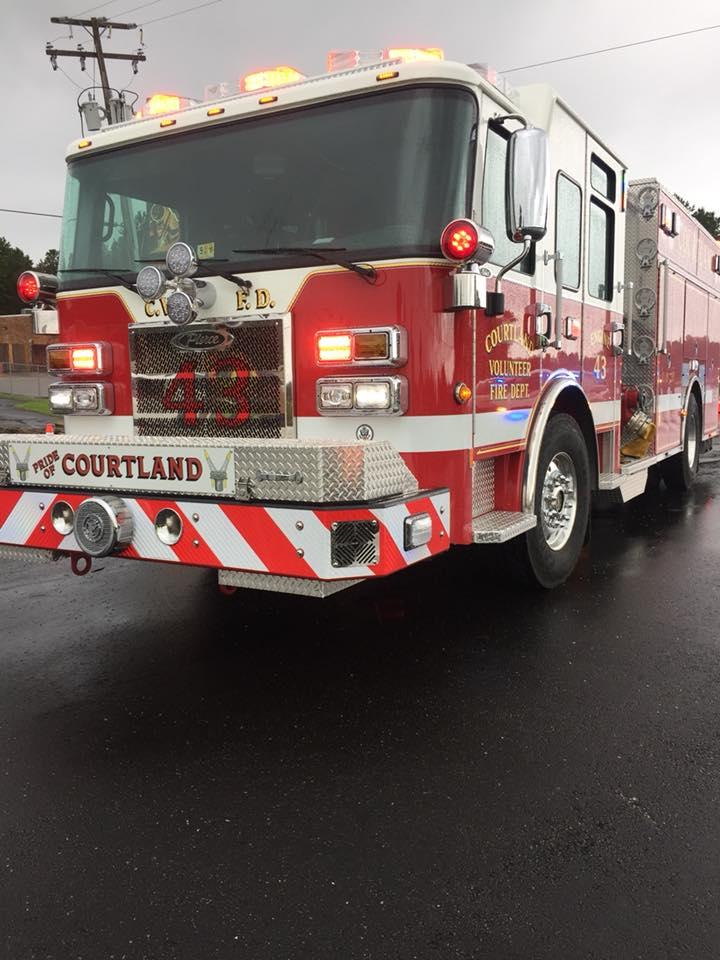 Courtland fire truck
