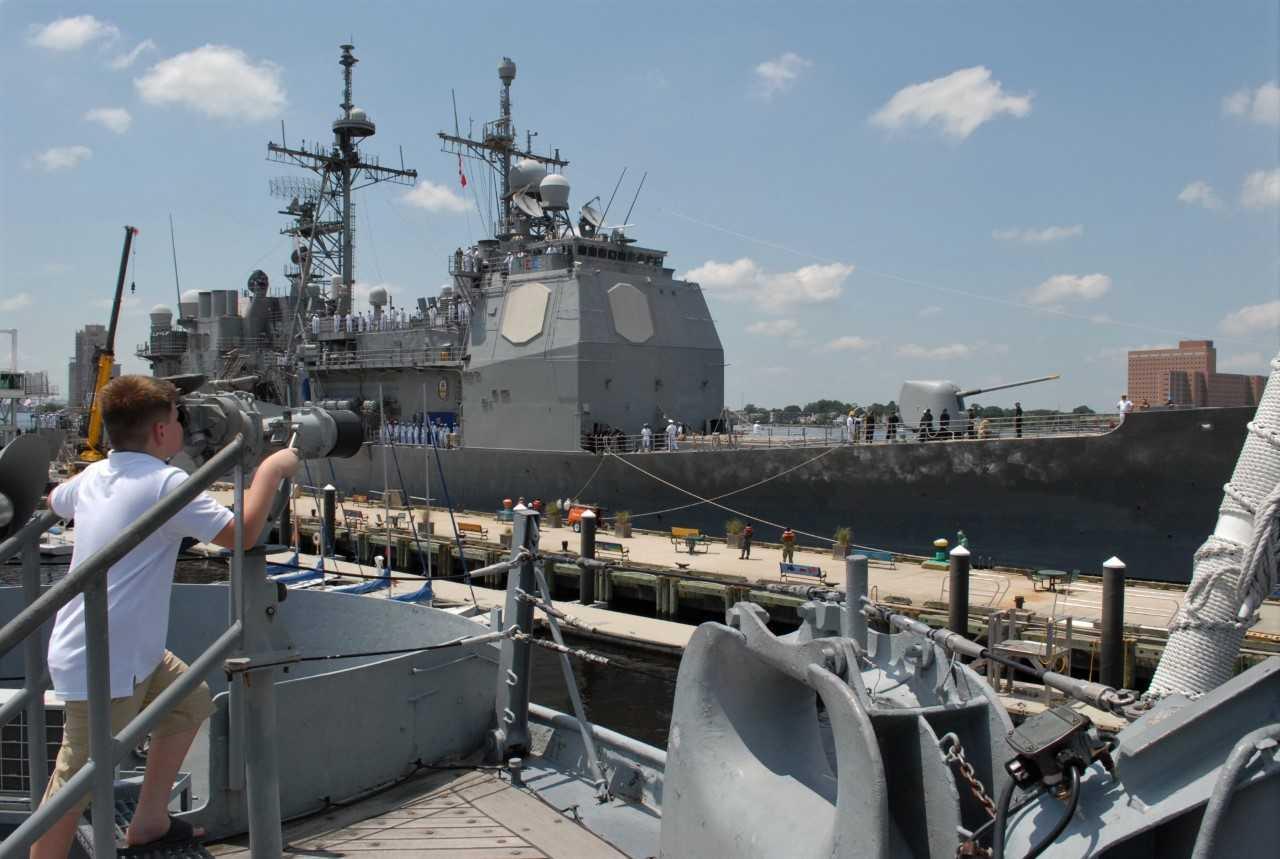 USS Monterey at Nauticus