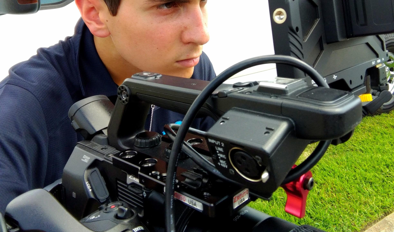 Intern Gabriel Barone Composing a Shot