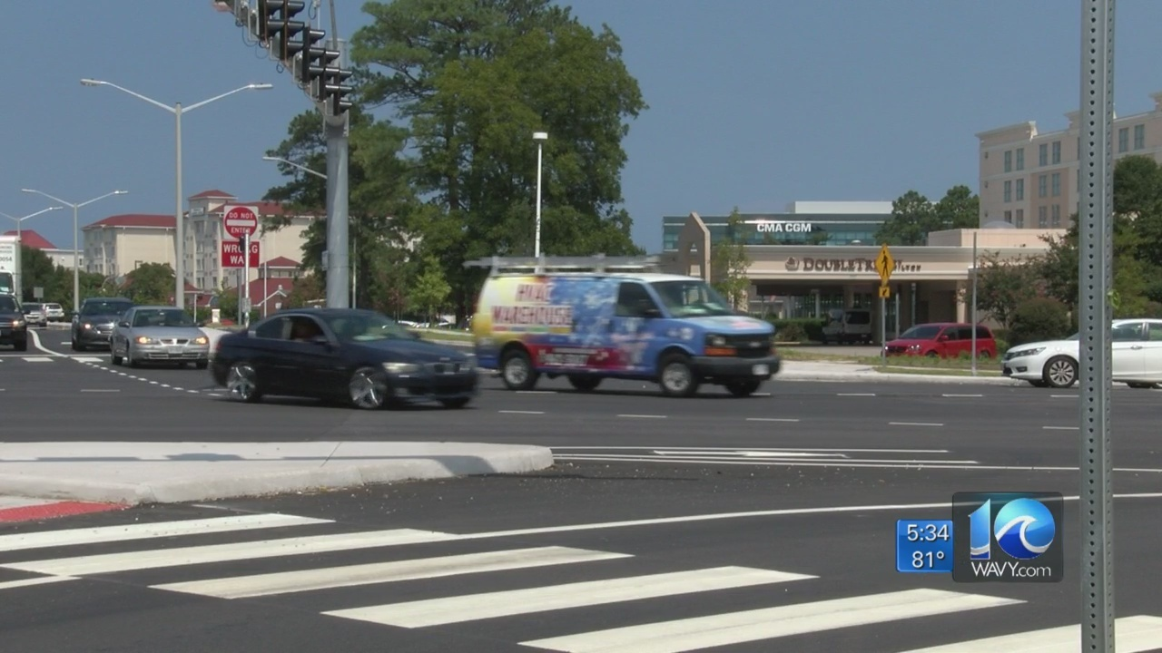 VDOT evaluates new continuous flow intersection in Norfolk