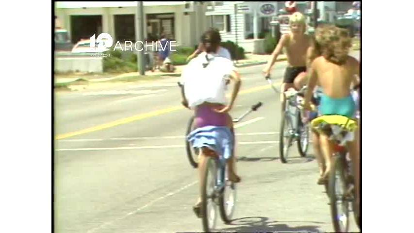 WAVY Archive: 1981 Teenage Bikers at the Oceanfront