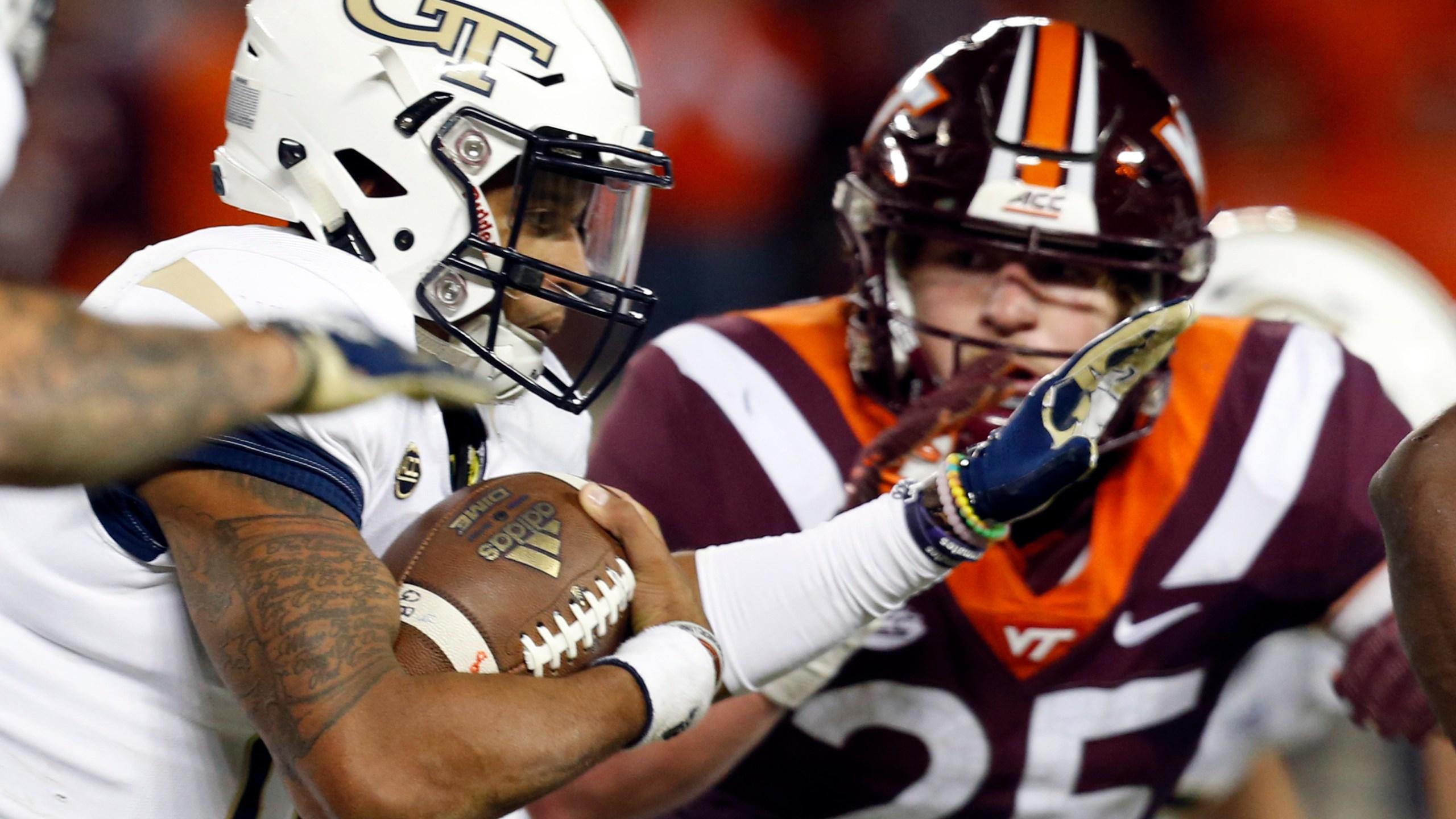 Georgia Tech Virginia Tech football_1540523934297