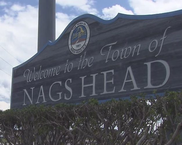 Nags Head town sign