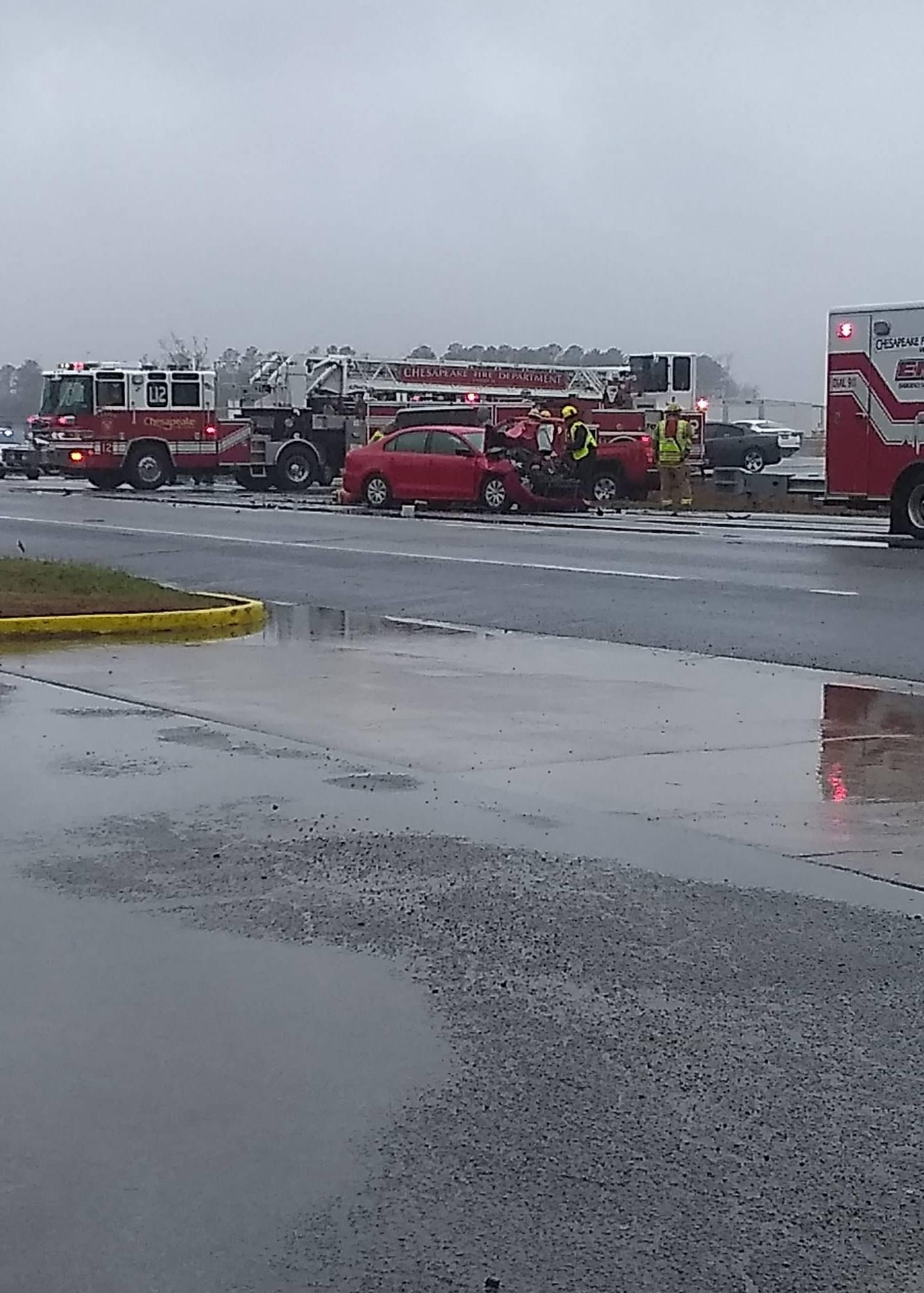 Route 58 crash Chesapeake