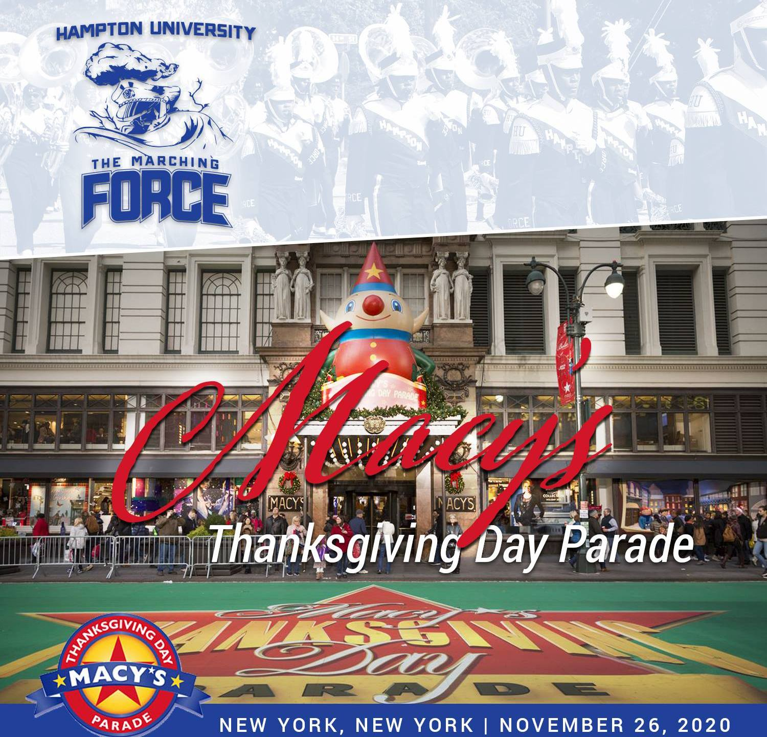 Thanksgiving Parade New York 2020 HU marching band selected to perform in 2020 Macy's Thanksgiving