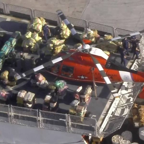 Coast Guard offloads seized drugs in Florida