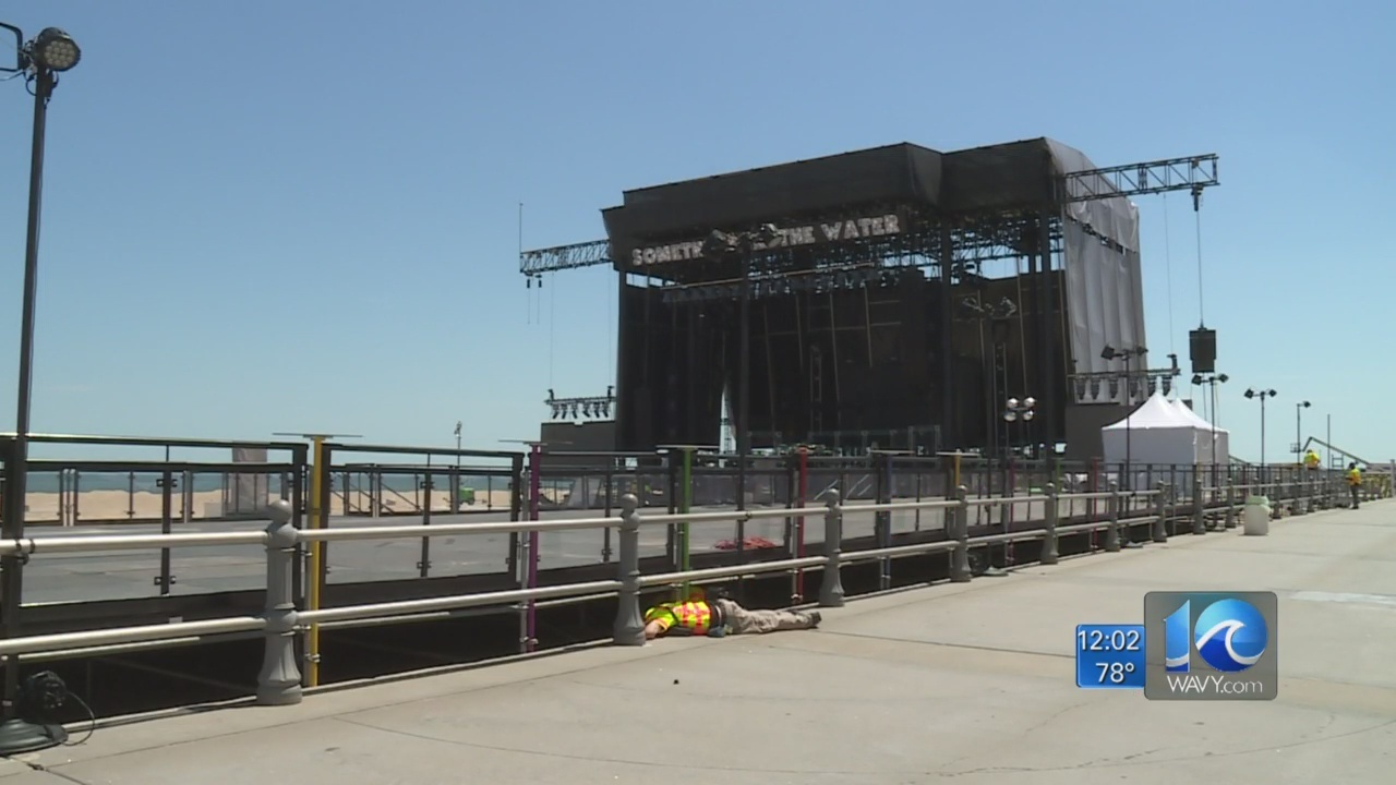Final preps continue ahead of Something in the Water festival