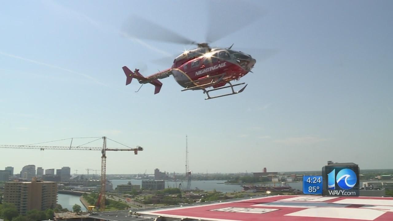Sentara tests new helipads at Norfolk hospital
