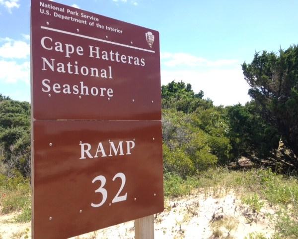 Cape Hatteras National Seashore Sign
