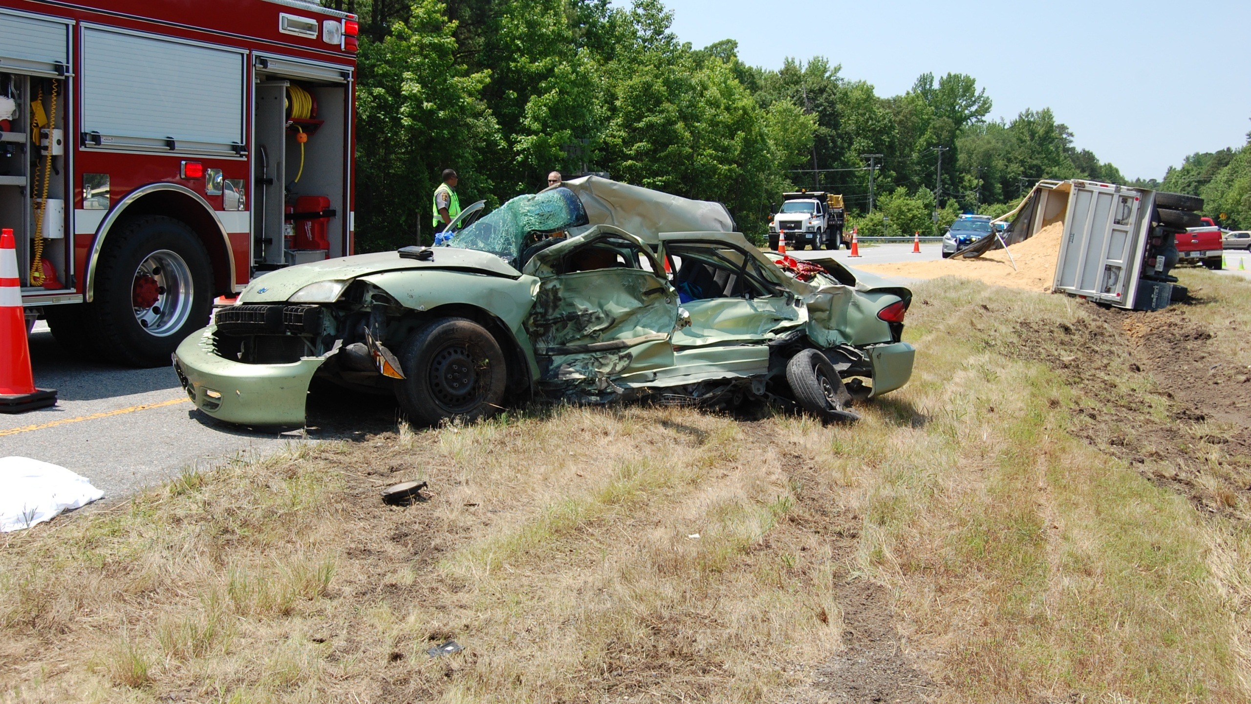 Two dead in two-vehicle crash in Sussex County | WAVY com