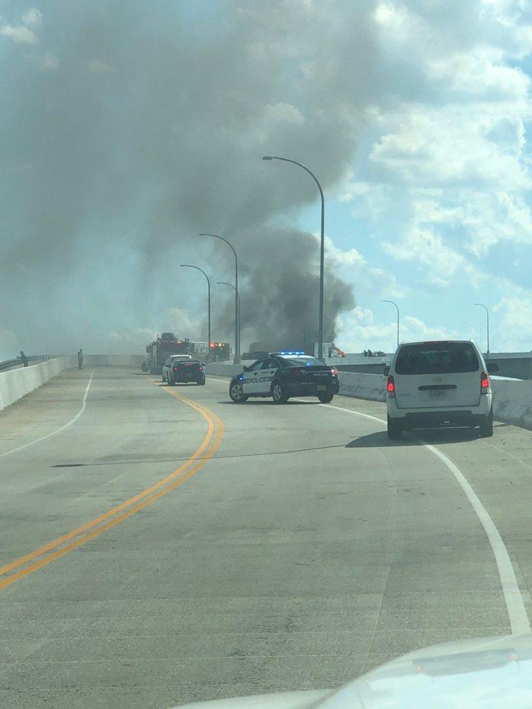 Jordan Bridge closed in both directions due to multi-vehicle crash