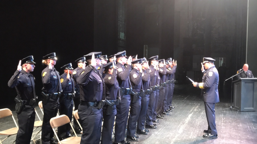 Norfolk inducts 22 officers at police academy graduation