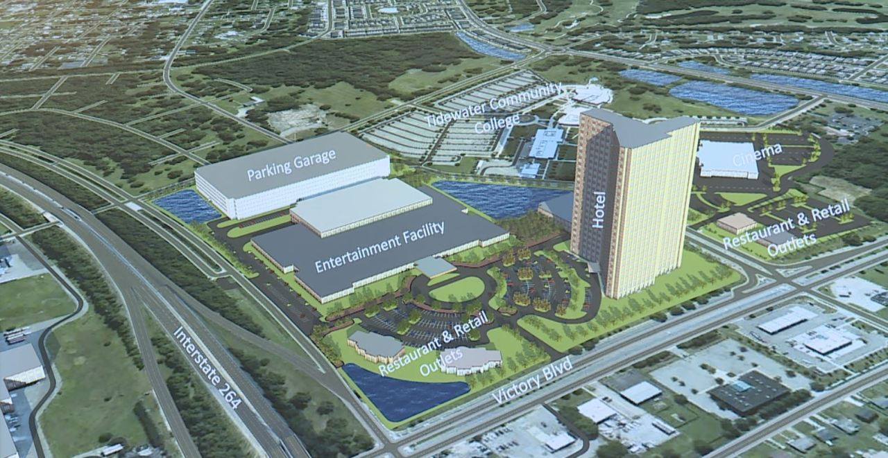 Portsmouth Kills Deal To Build Waterfront Casino Now Looking To Build At I 264 And Victory Blvd Wavy Com
