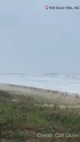 GSO-Closings (502439) - Hurricane Dorian washes away portion of Avalon Pier in OBX
