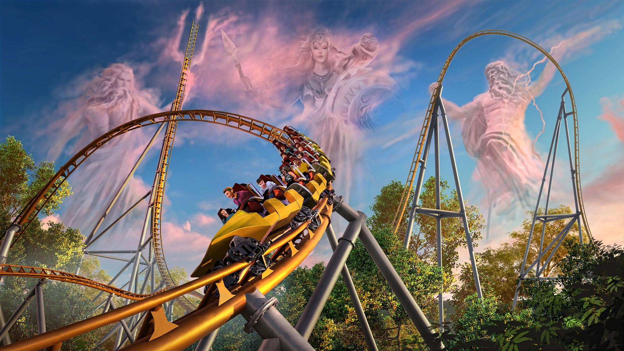 Busch Gardens Unveils New Look At Pantheon Coaster Wavy Com