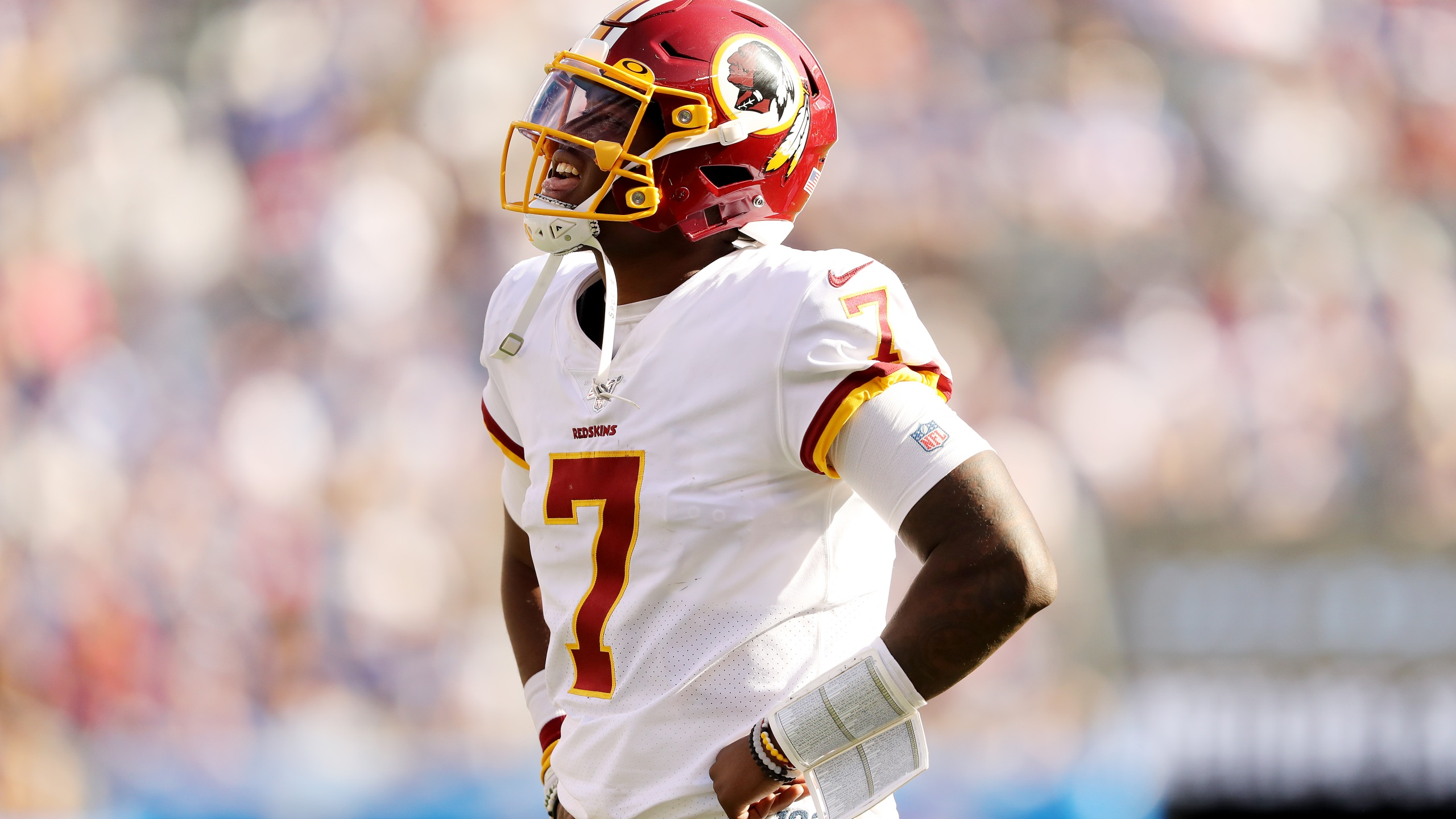 Haskins Throws Three Picks In Debut Redskins Fall To Giants