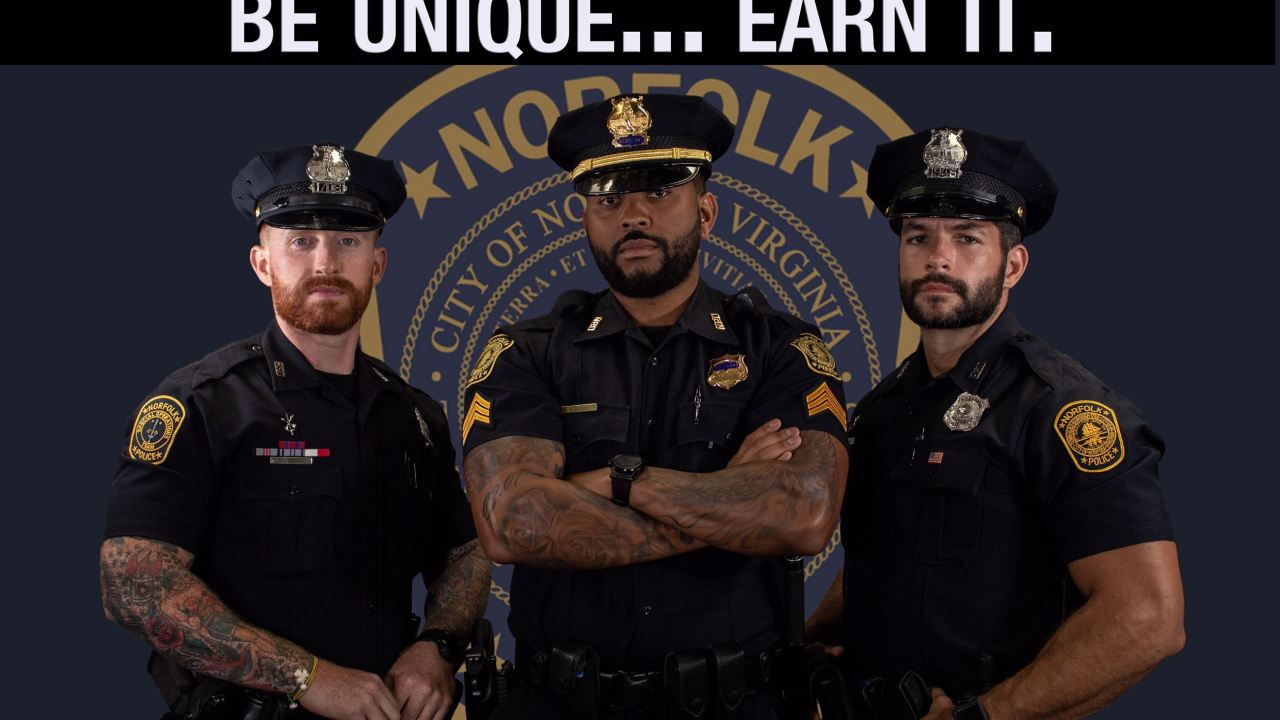 Norfolk PD now allowing full beards, visible tattoos